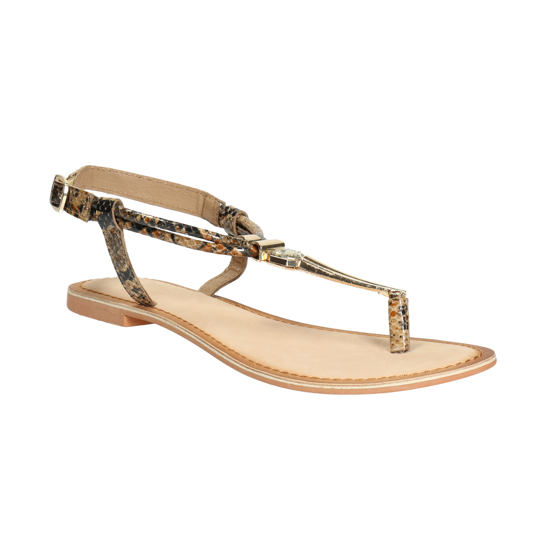 Dámské kožené sandály se vzorem