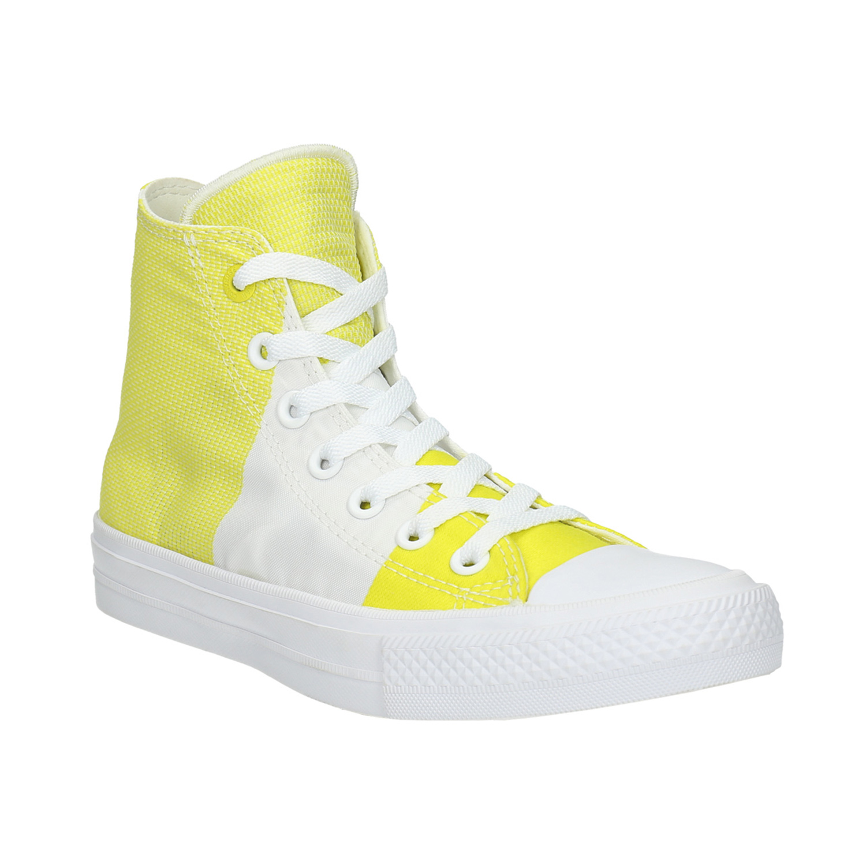 Žluté dámské tenisky s pruhy