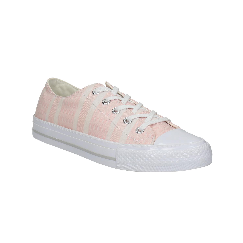 Růžové tenisky s bílou podešví