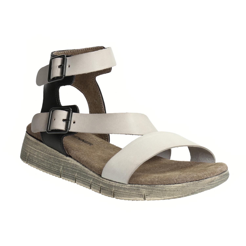 Skórzane sandały damskie - 5662627