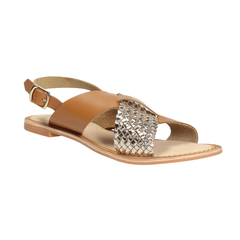 Kožené sandály s překříženými pásky