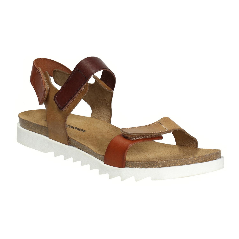 Skórzane sandały damskie - 5664630