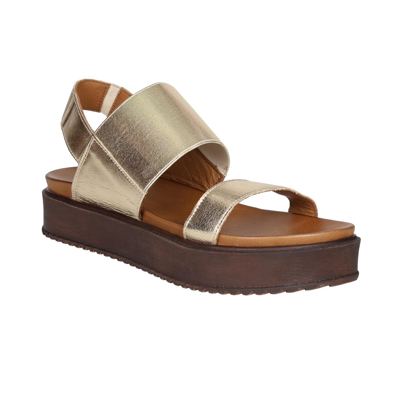 Złote sandały ze skóry - 6668614
