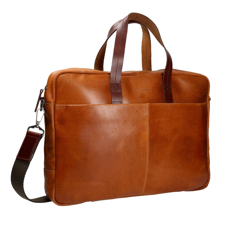 Kožená hnědá taška