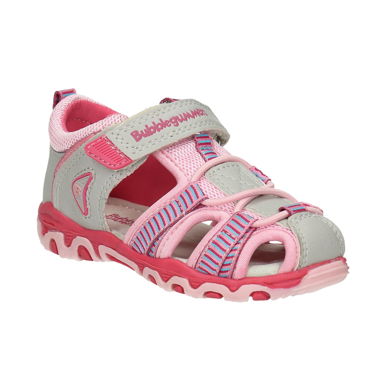 Dětská obuv s vykrojením růžová