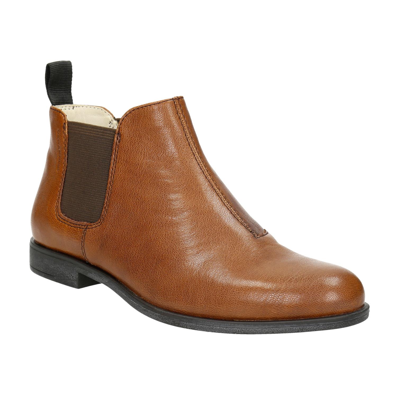 Kožená kotníčková obuv s pružnými boky