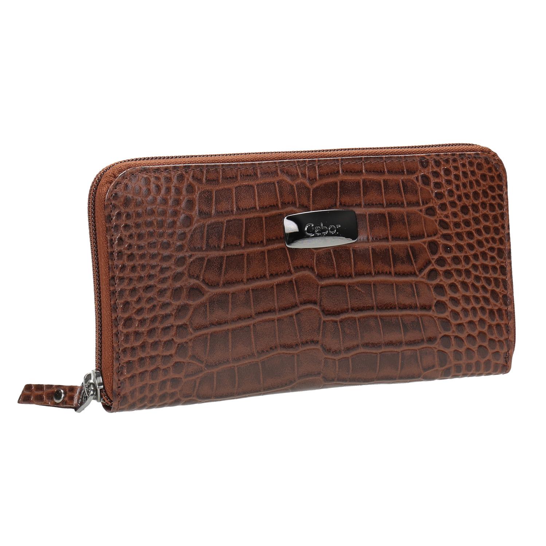 Dámská kožená peněženka se strukturou