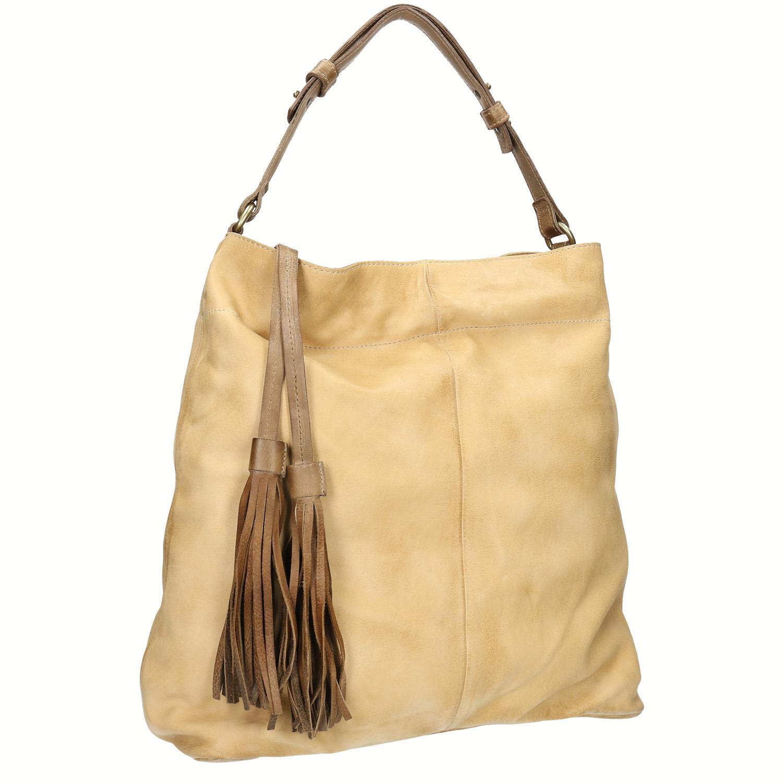Kožená kabelka se střapci