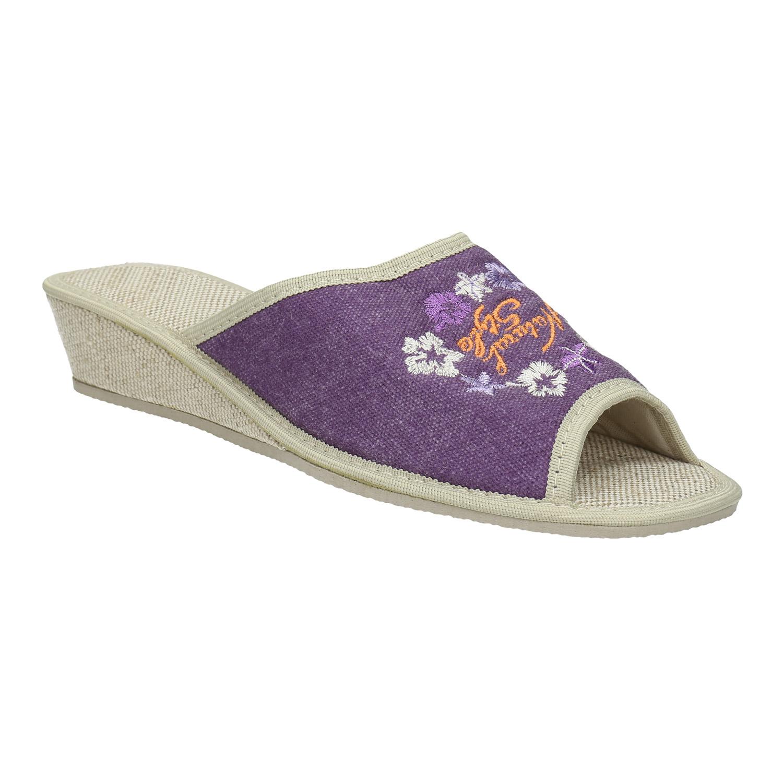 Dámská domácí obuv na klínku