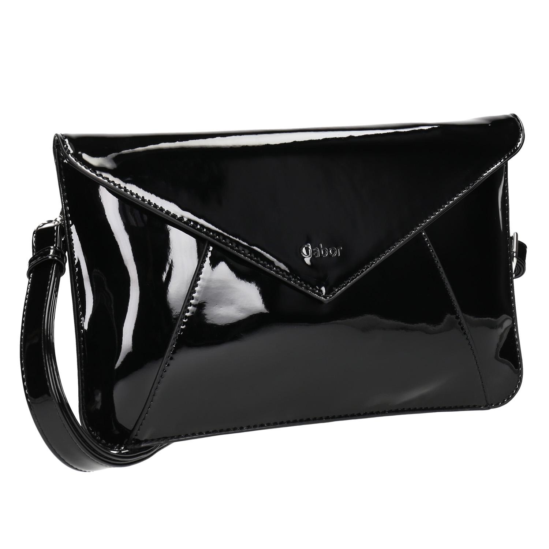 Lakovaná kabelka s klopou