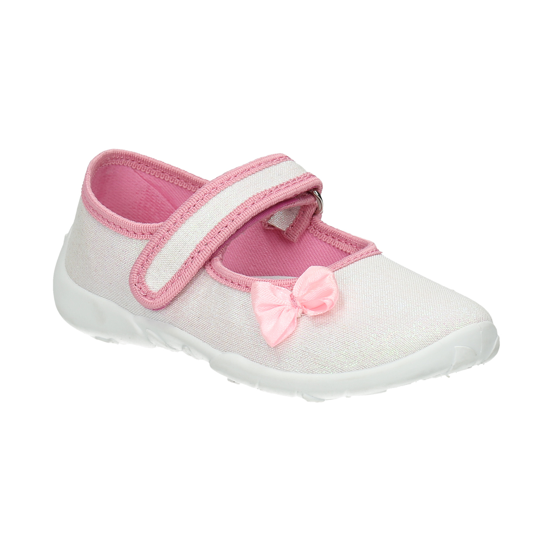 Dětská domácí obuv s mašličkou