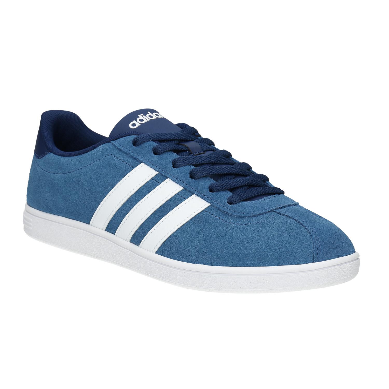Modré kožené tenisky