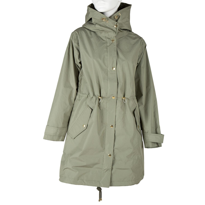 Khaki dámská bunda s kapucí