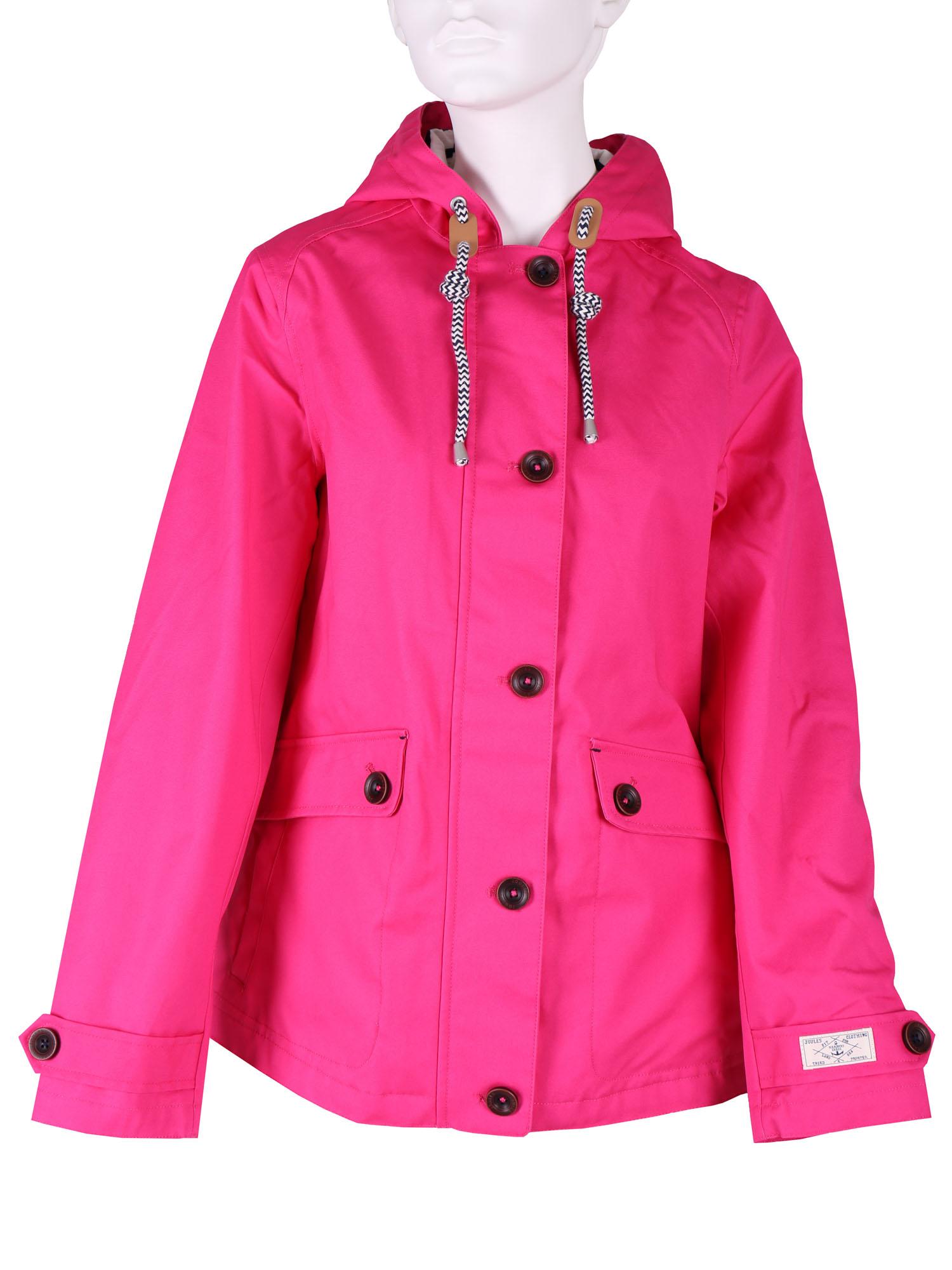 Růžová dámská bunda s kapucí