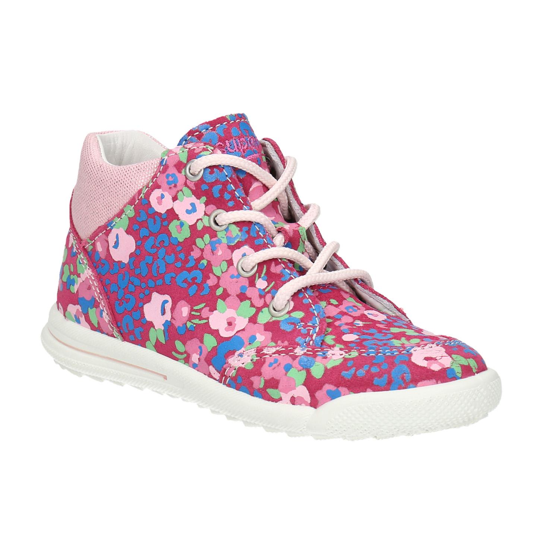 Dětská obuv s barevným vzorem