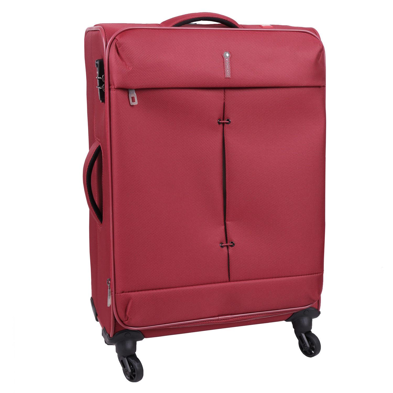 Červený cestovní kufr
