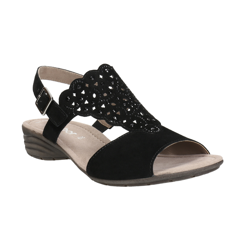 Kožené dámské sandály s perforací