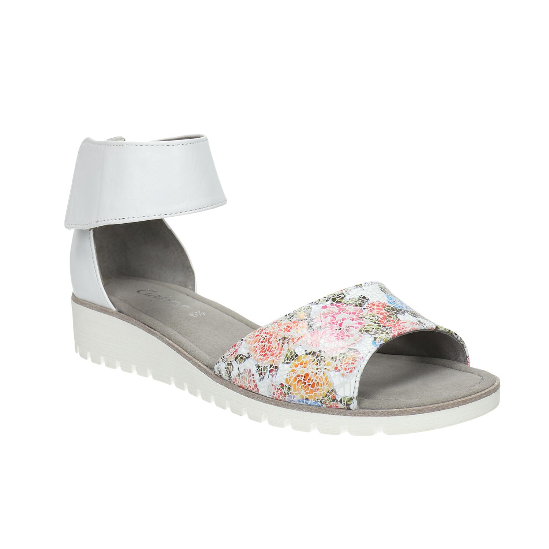 Kožené sandály s květinovým vzorem