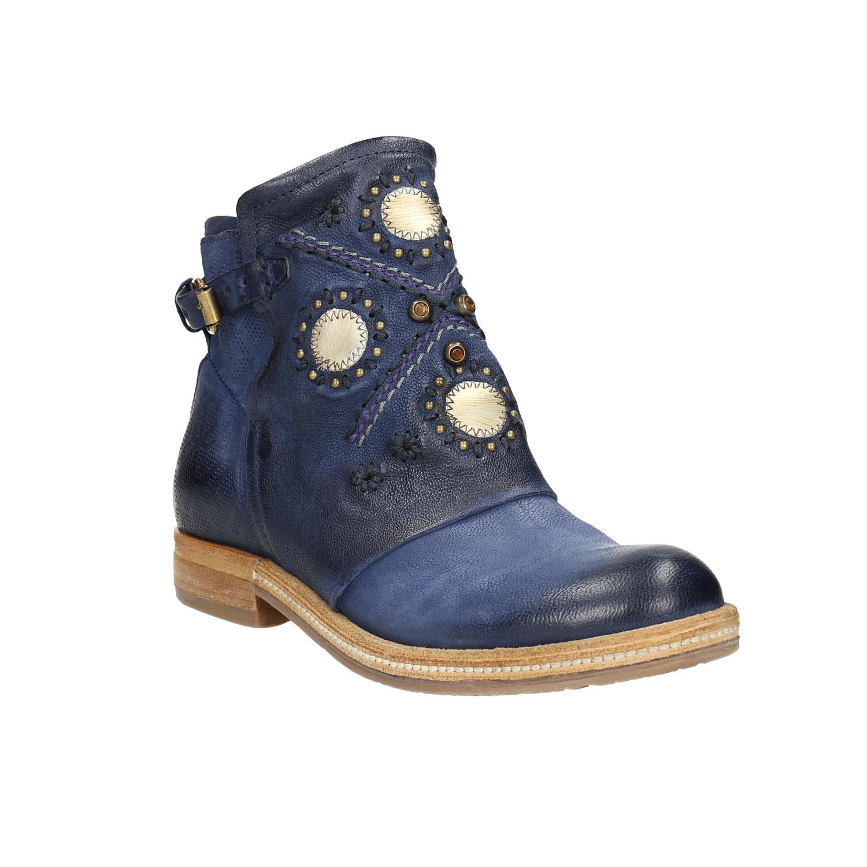 Kožená kotníčková obuv dámská