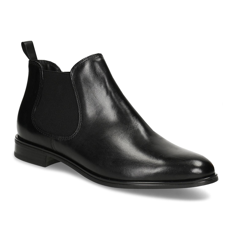 Černá kožená obuv v Chelsea stylu