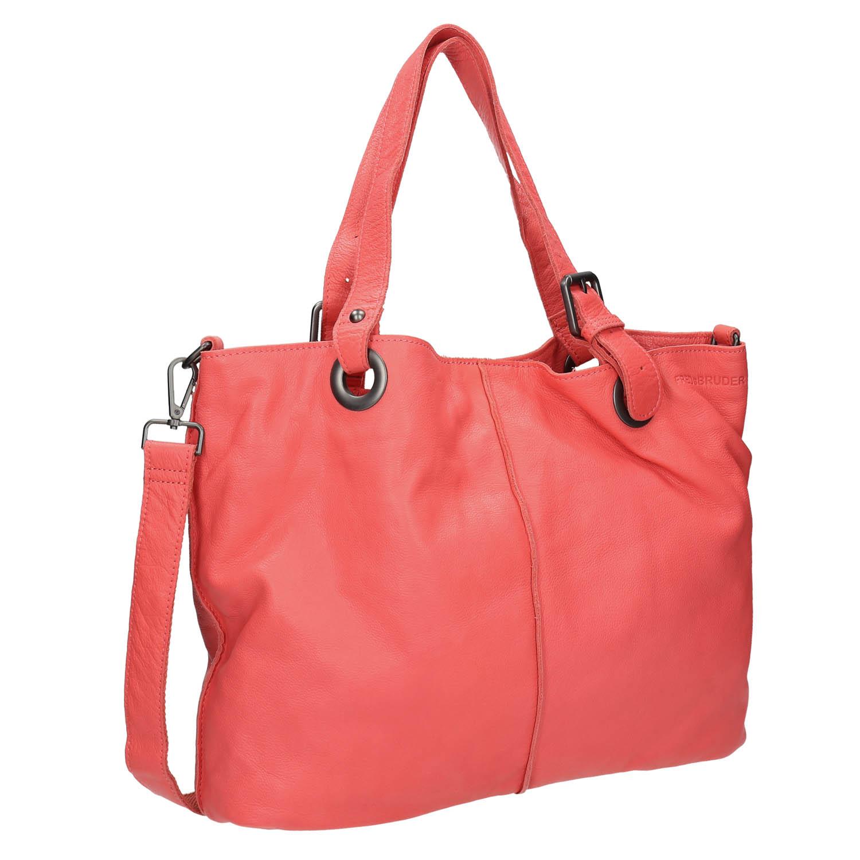Dámská kožená kabelka s popruhem