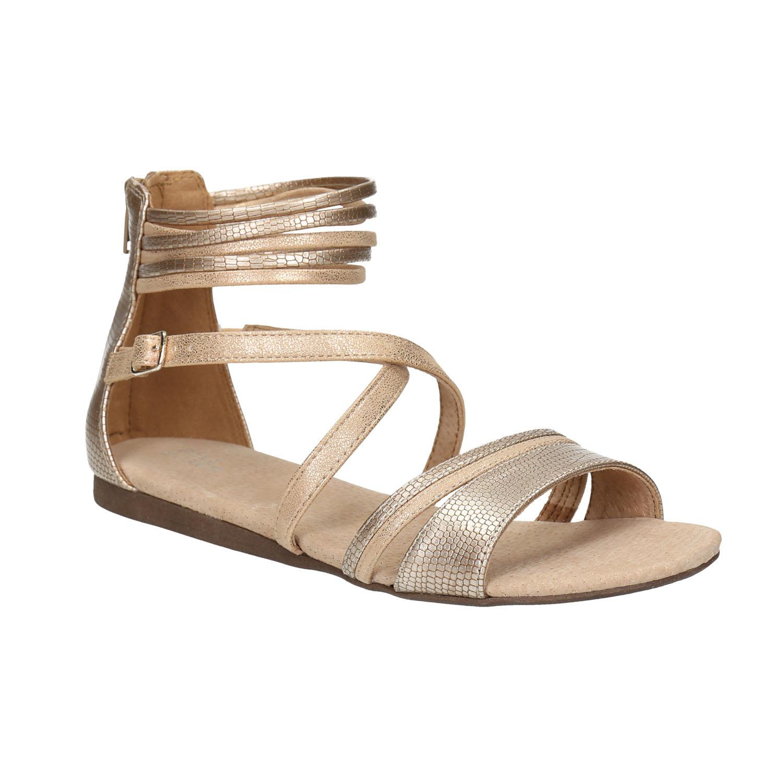 Złote sandały dziewczęce - 4218009