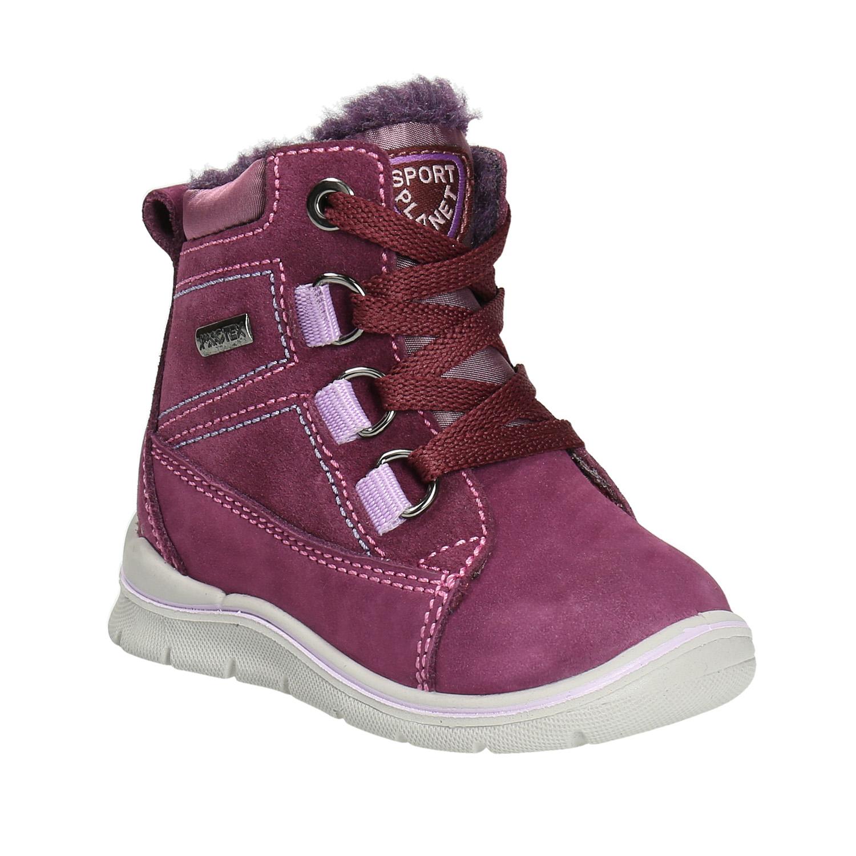 Dětská kožená zimní obuv