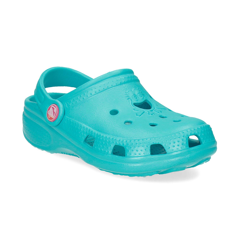 Tyrkysové detské sandále Clogs