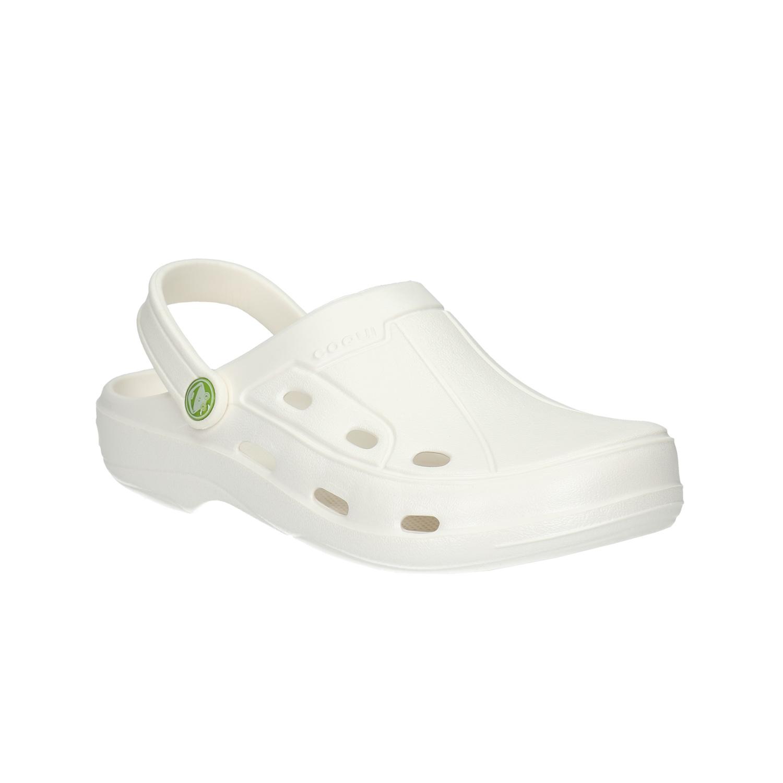 Białe sandały damskie - 5721610