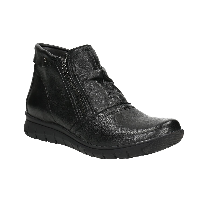 Kožená kotníčková obuv se zipy