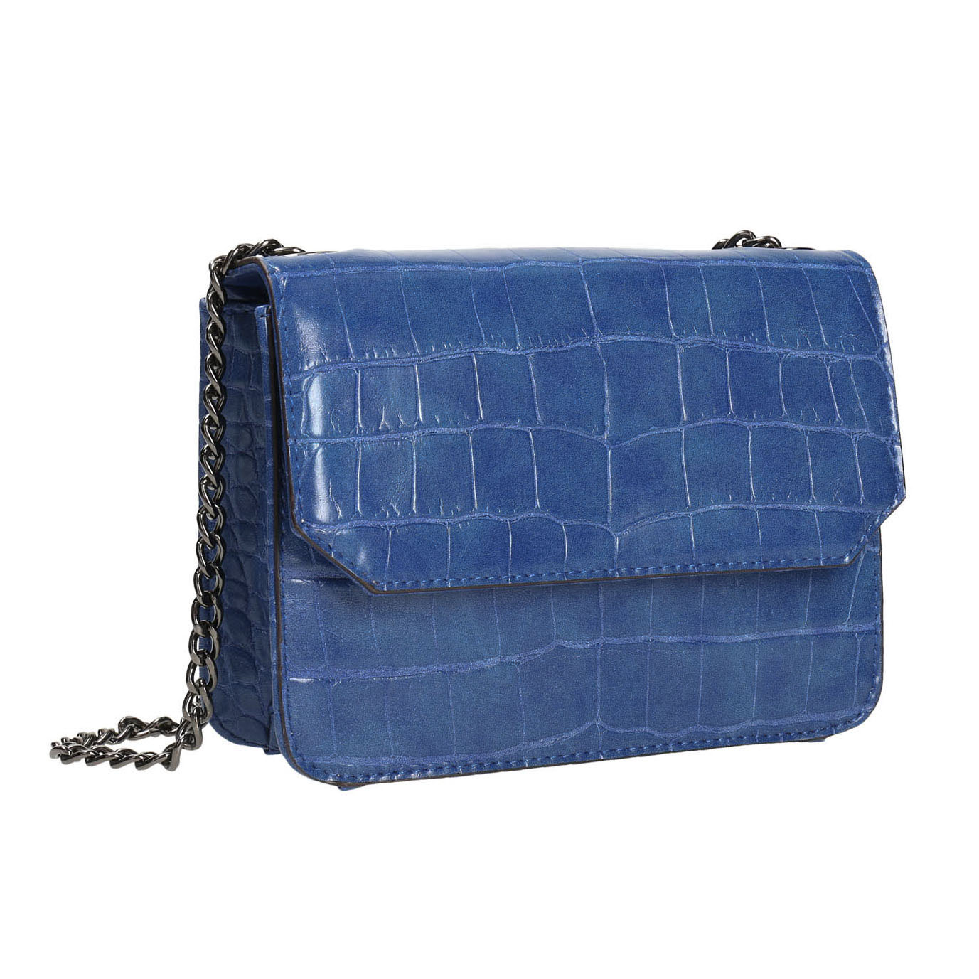 Modrá kabelka se strukturou