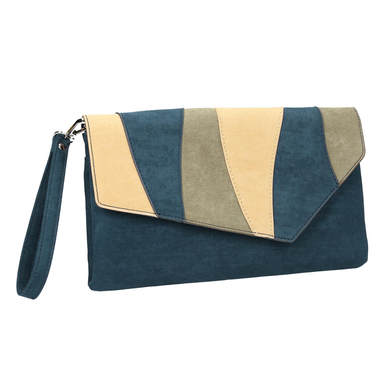 Niebieska kopertówka damska zpaskiem - 9699664