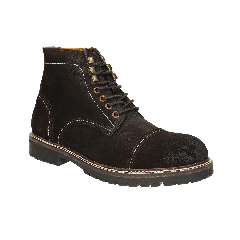 Pánská kožená obuv s prošitím