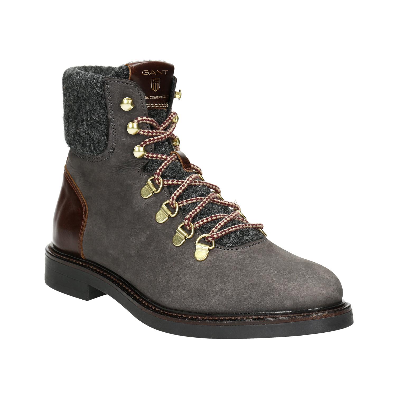 Dámská kožená zimní obuv