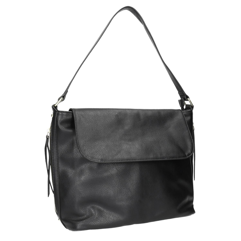 Černá kabelka s klopou