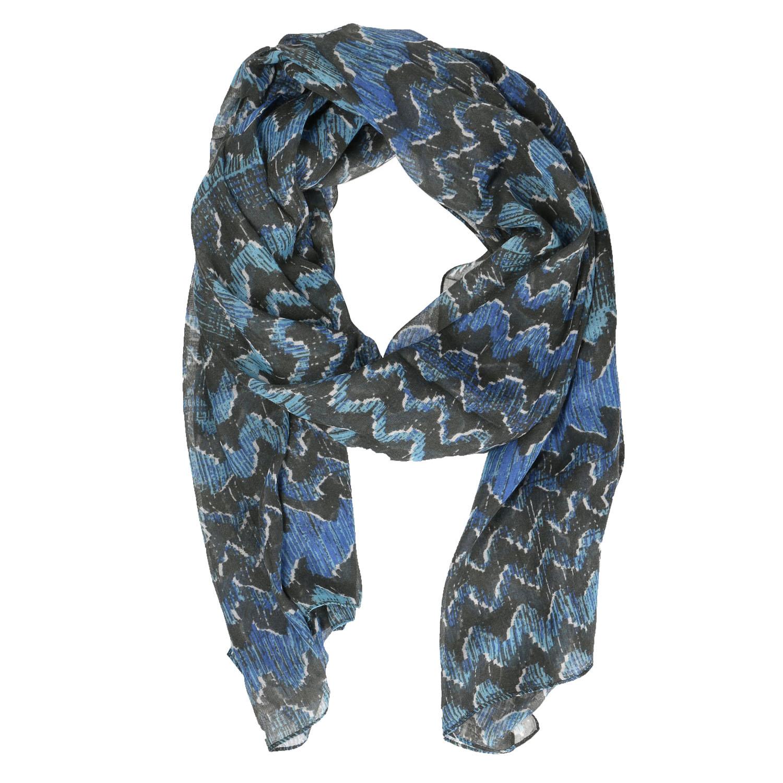 Dámský modrý šátek se vzorem