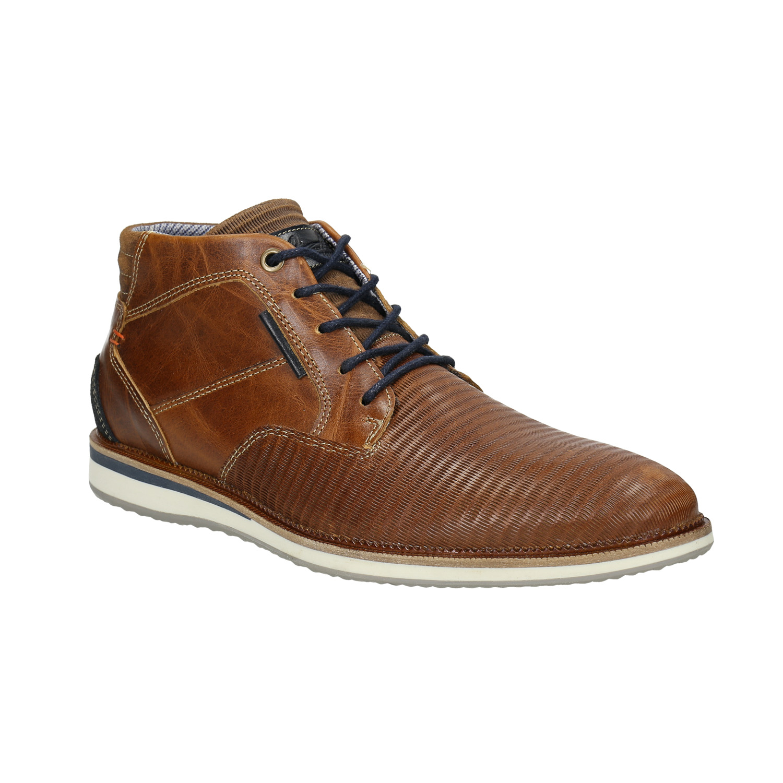 Ležérní kotníčková obuv z kůže