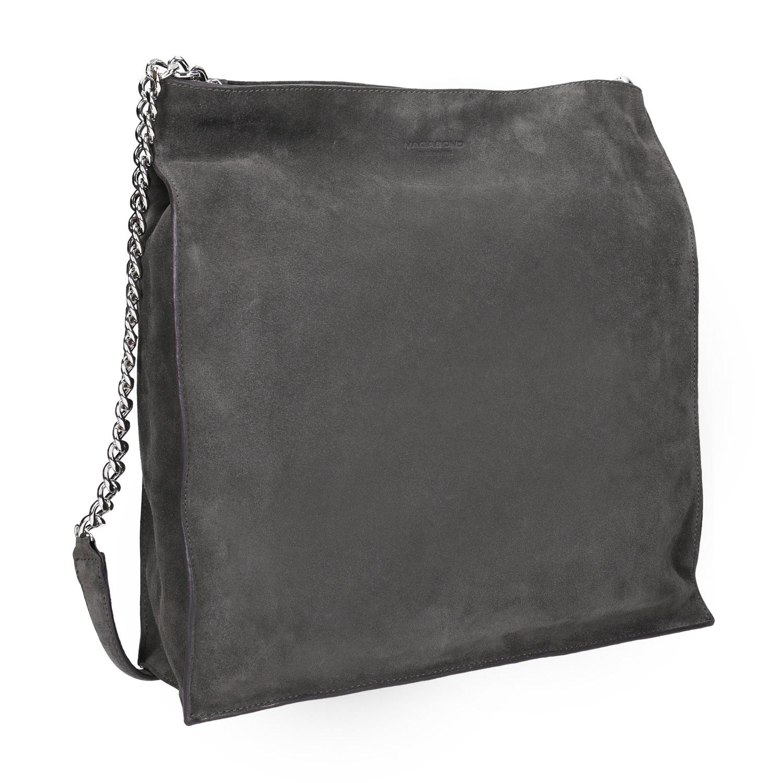 Kožená dámská kabelka s řetízkem