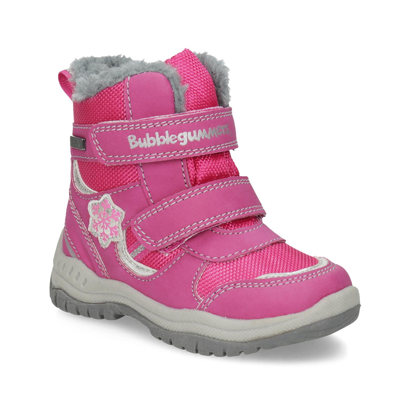 Růžové dětské sněhule