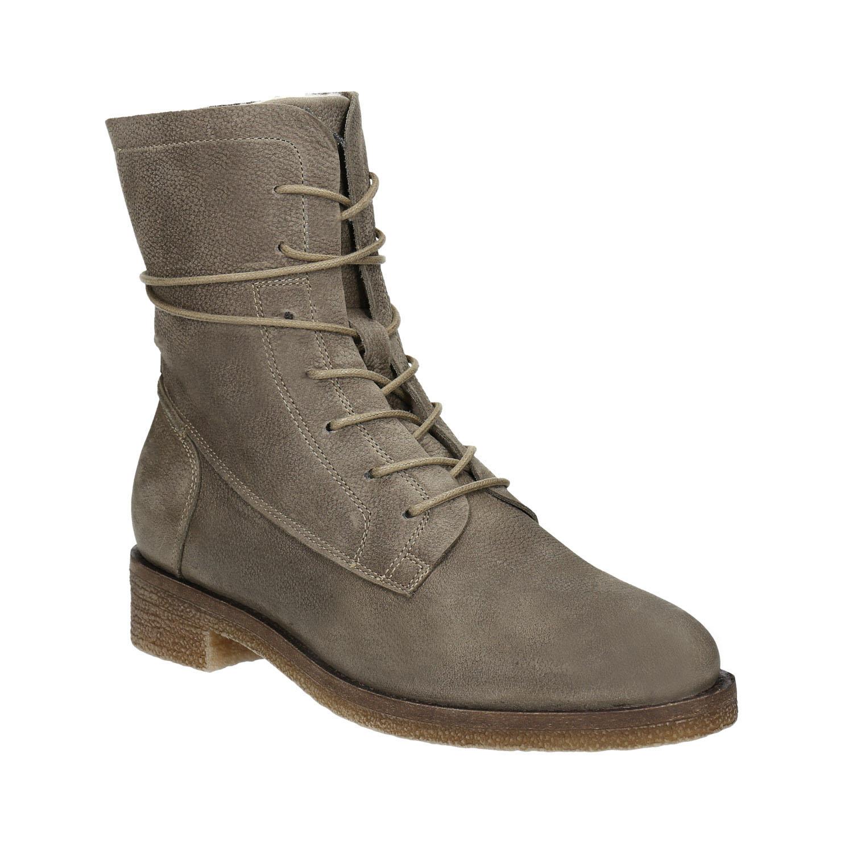 Dámské kožené šněrovací boty