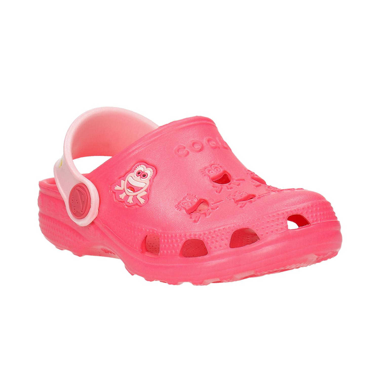 Růžové dívčí sandály