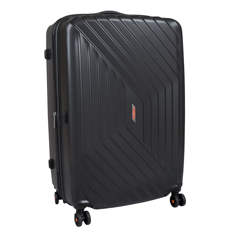 Černý kufr na kolečkách