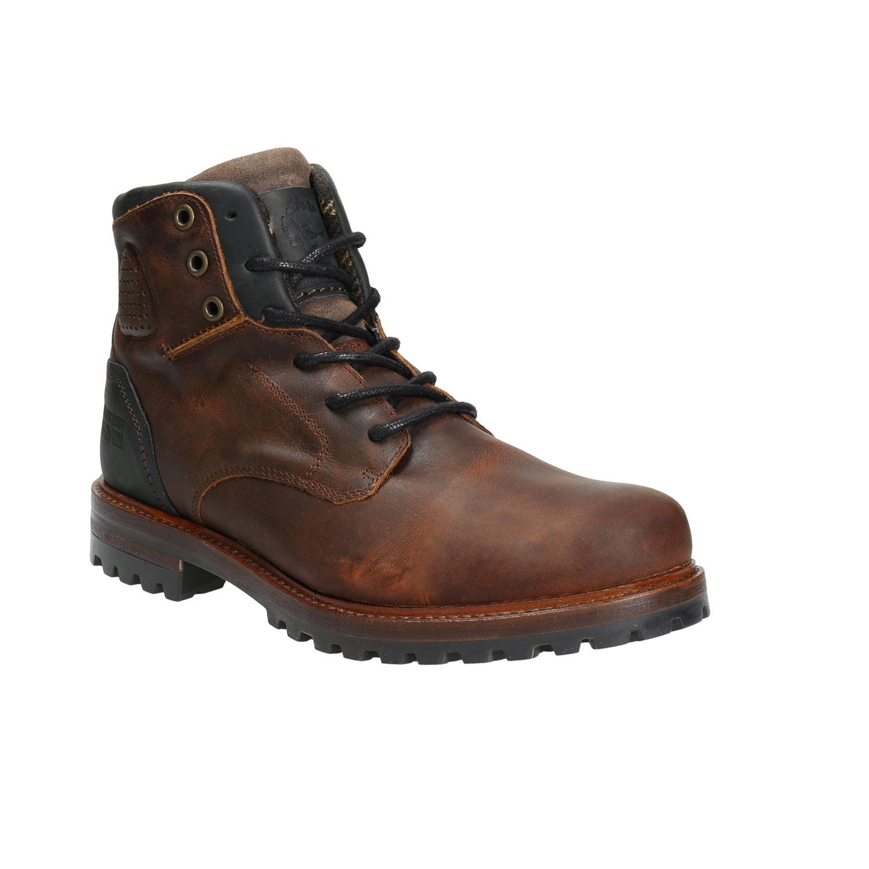 Skórzane buty męskie na grubej podeszwie - 8964665