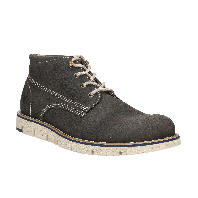 Buty męskie za kostkę, na kontrastowej podeszwie - 8462657