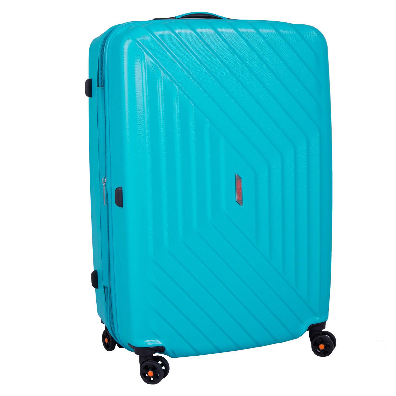 Tyrkysový cestovní kufr