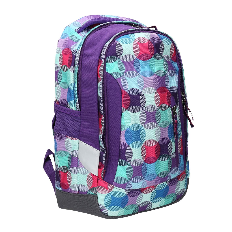 Fialový školní batoh se vzorem