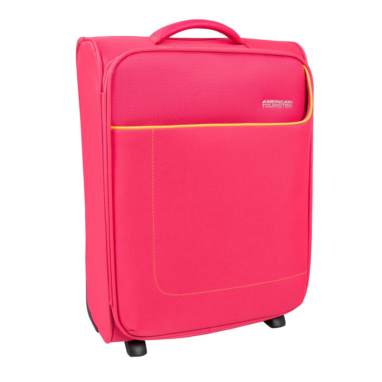 Růžový cestovní kufr
