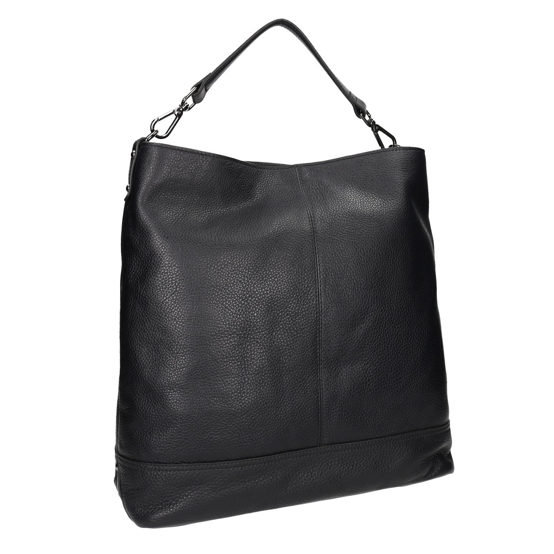 Kožená černá Hobo kabelka
