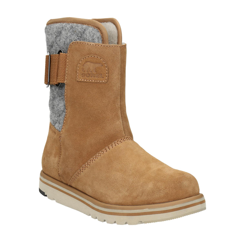 Dámská zimní kožená obuv