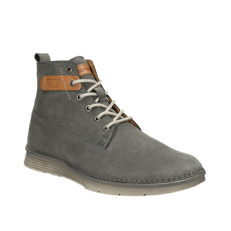 Skórzane buty męskie za kostkę - 8462656
